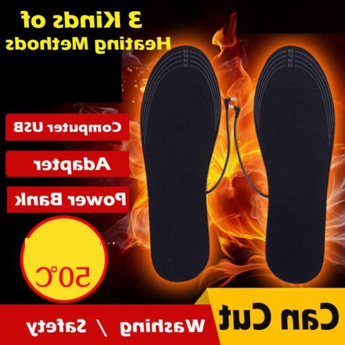 electric heated shoe insoles warm socks feet