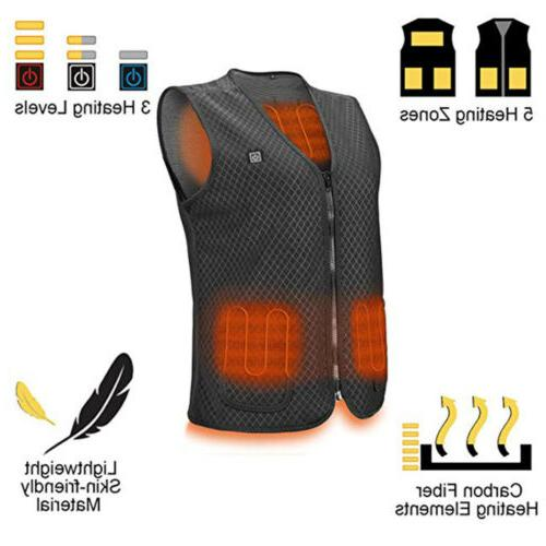 Electric Heated Vest USB Warm Up Heating Pad Clothing