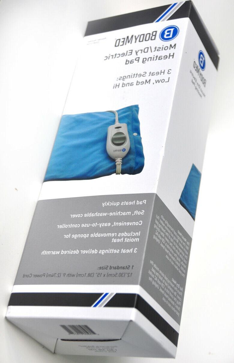 ELECTRIC HEATING PAD by BodyMed MOIST-DRY w/ 3 New