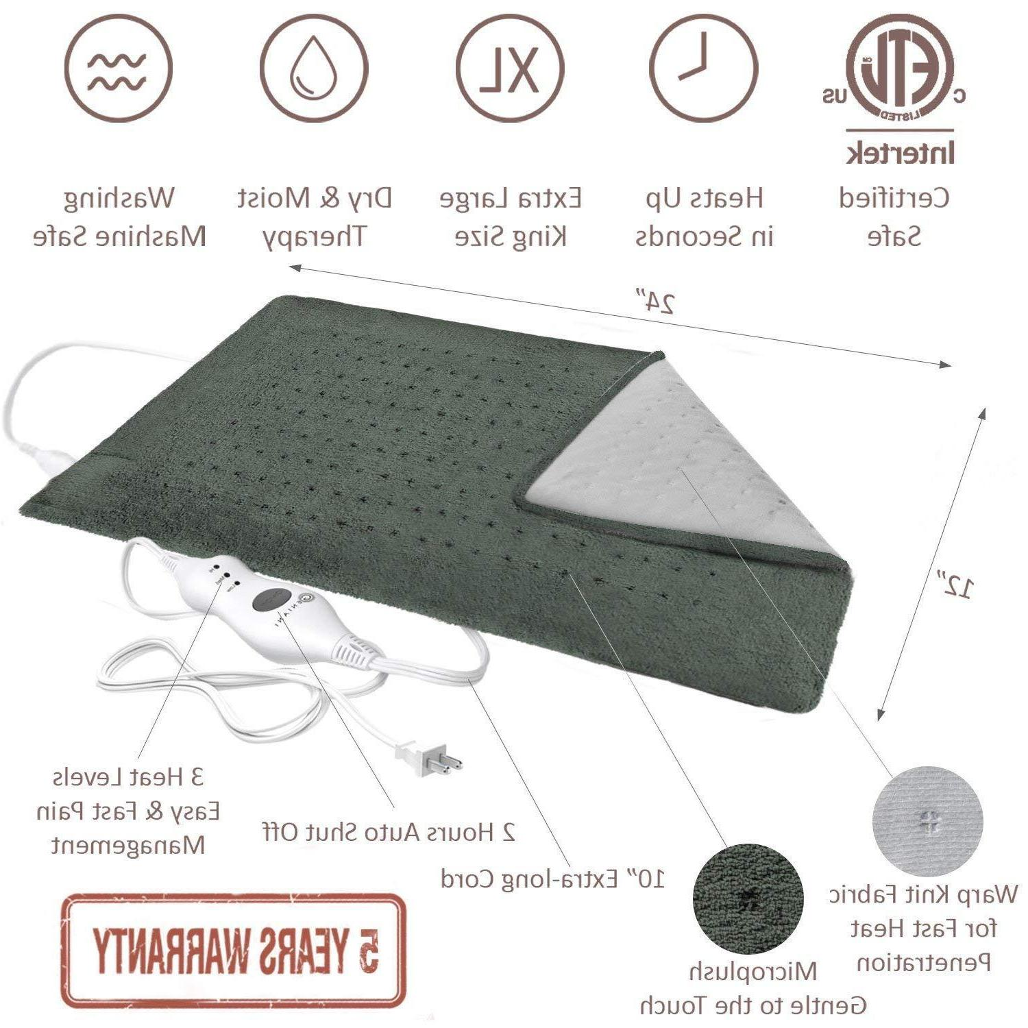 Electric Pad Size Neck Shoulder Pain Therapy
