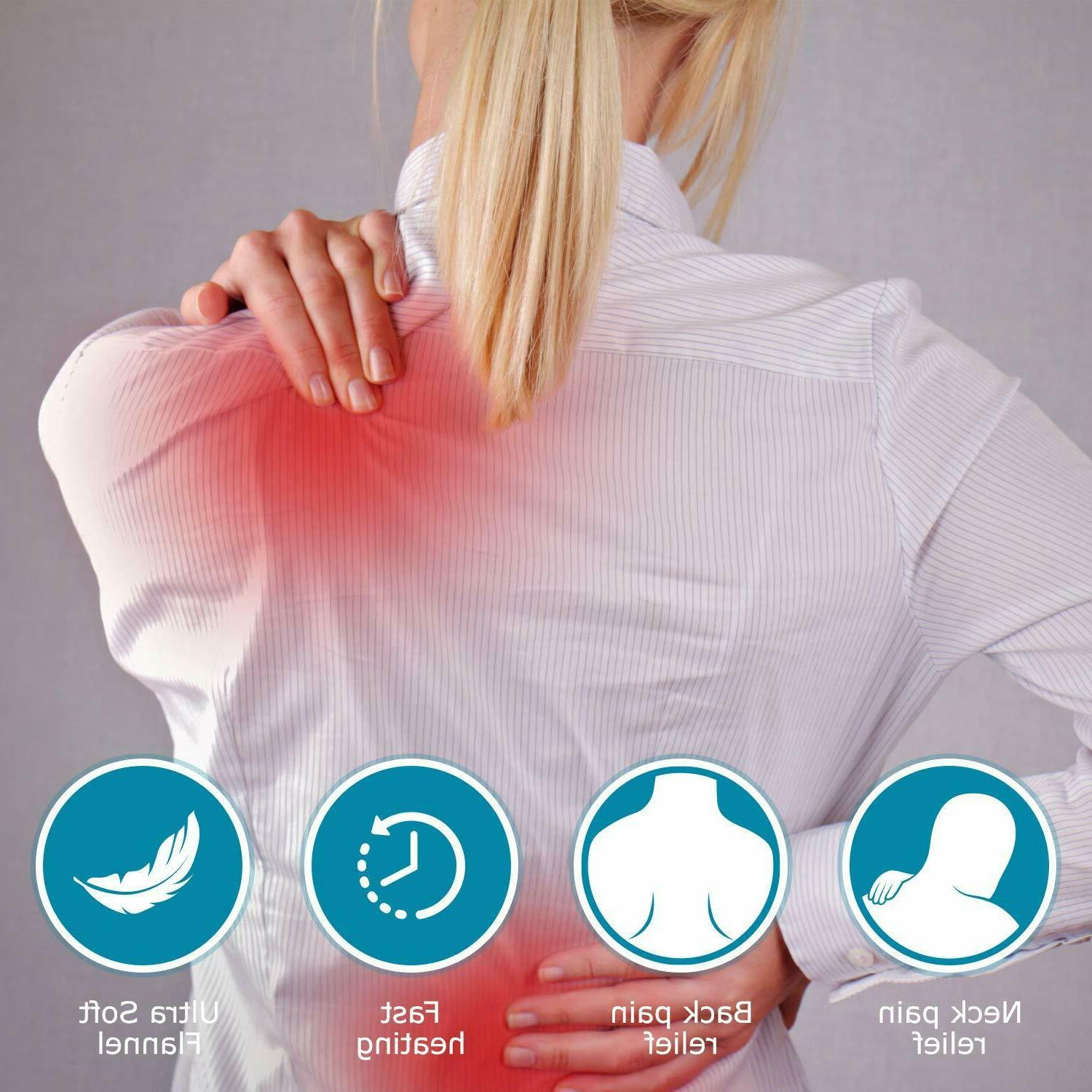 Electric Heating Pad Moist Auto Off Back Relief Therapy