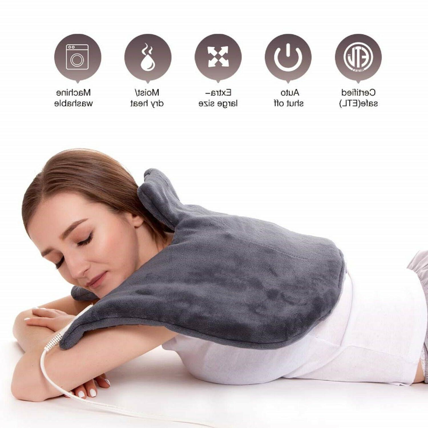 electric heating pad moist auto off neck