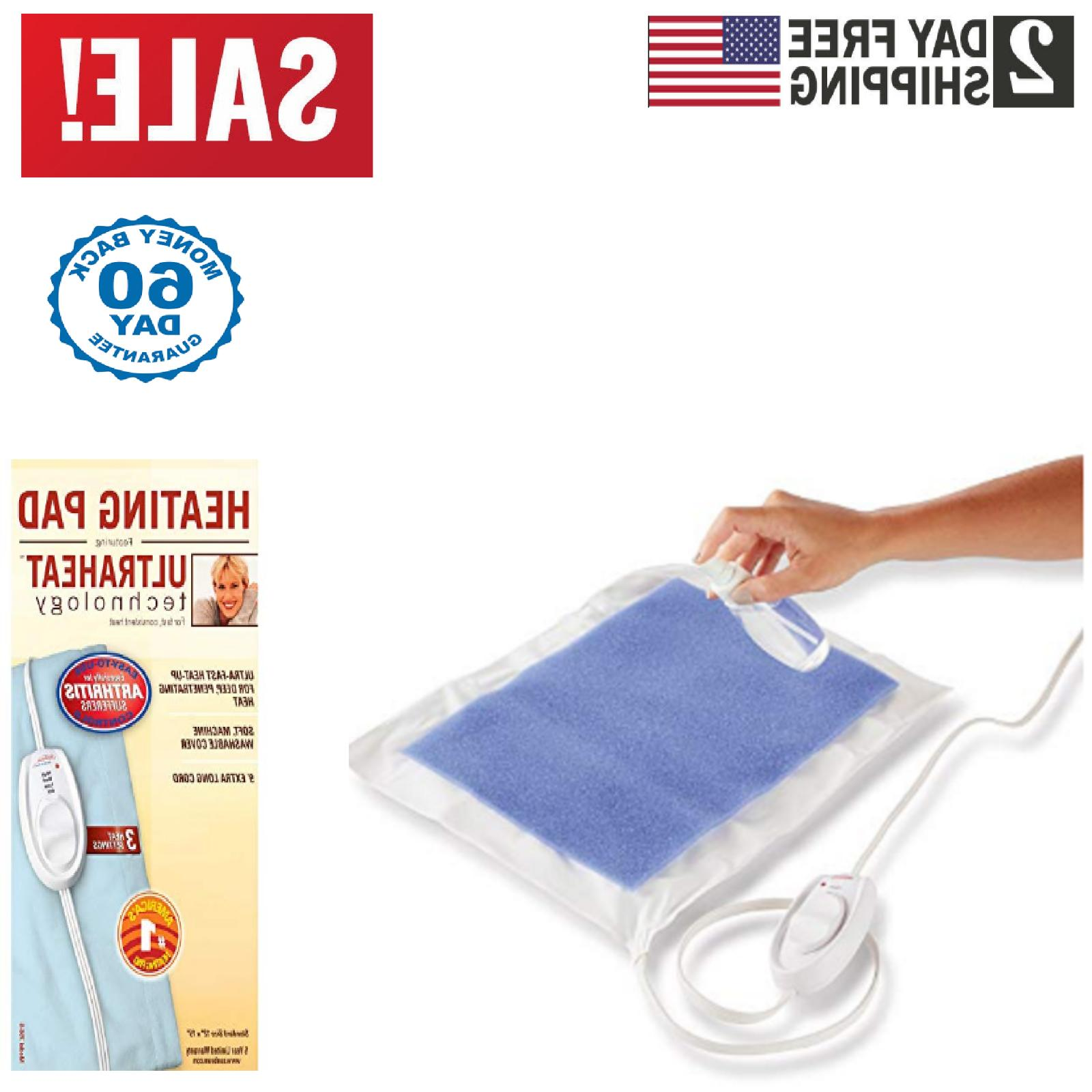 Electric Heating Pad Neck Back Pain Relief Arthritis Muscle