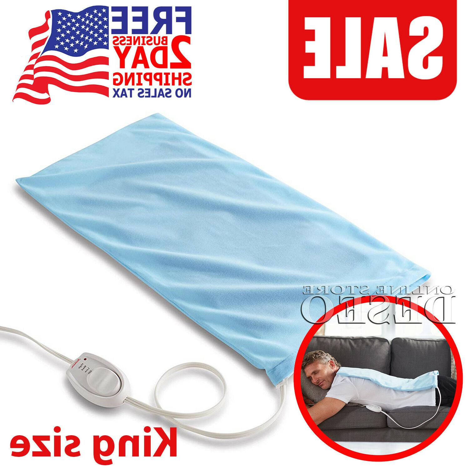 electric heating pad pain back relief king
