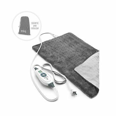 electric heating pad treating sore