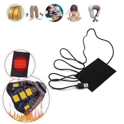 1/2PCS USB Electric Heater Pad Heating Pad Warmer Jacket USA
