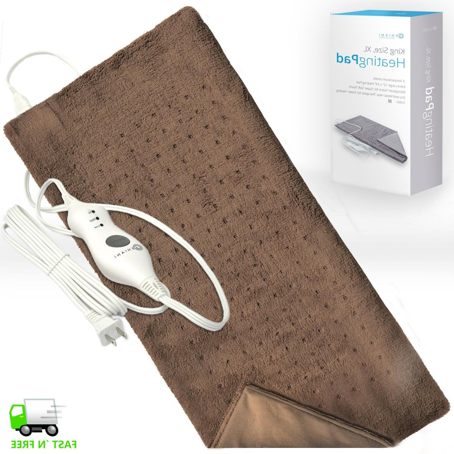 electric king size heating pad auto power