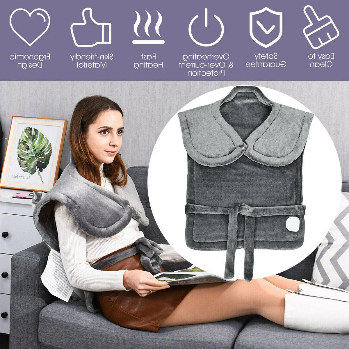 electric neck shoulder heating pad with 6