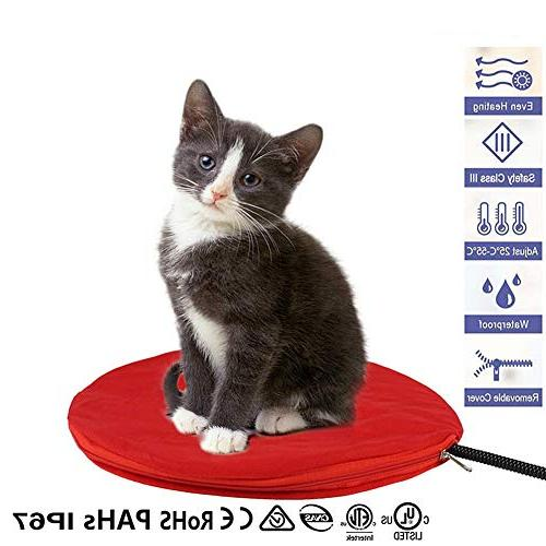 electric pet heating pad heated