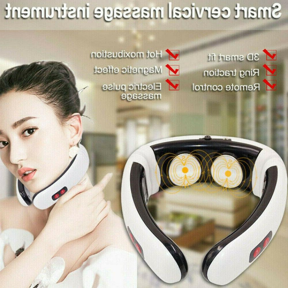 Electric cervical neck massager heating pad Relieve pain Rel
