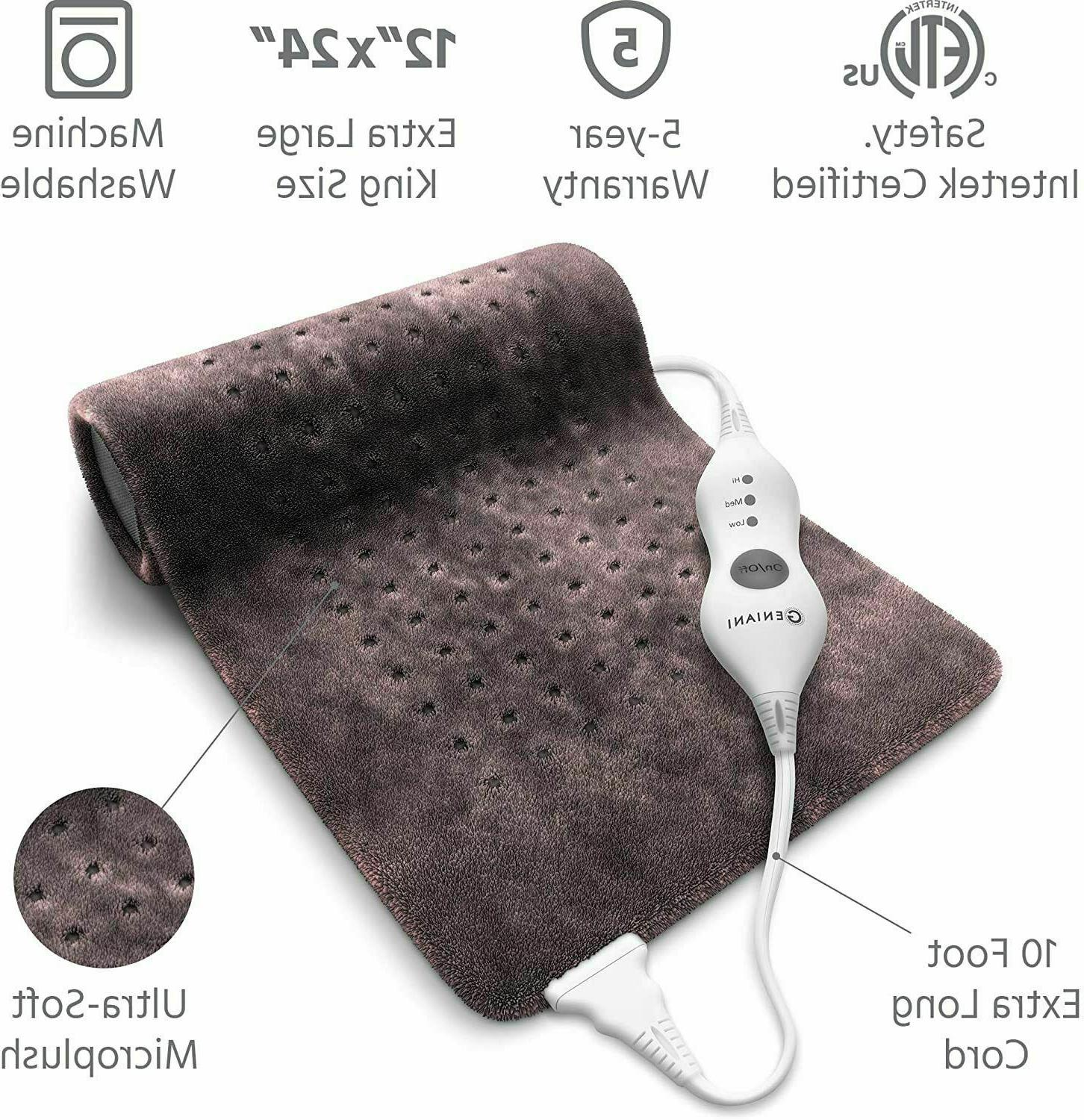 XL Electric Heating Pad - Moist and Neck/Back/Shoulders Heating Pad