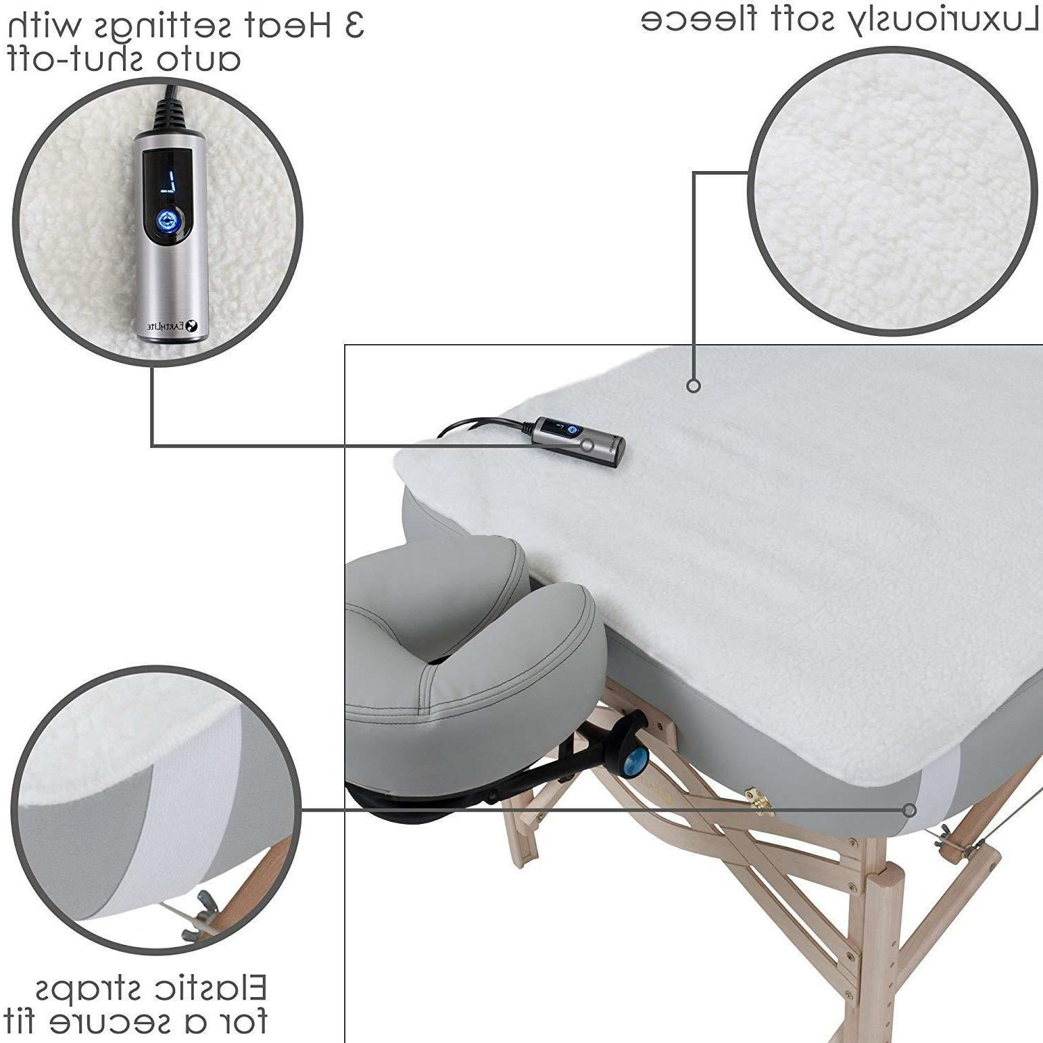 Fleece Massage Table Warmer Dual Settings 13ft Cord