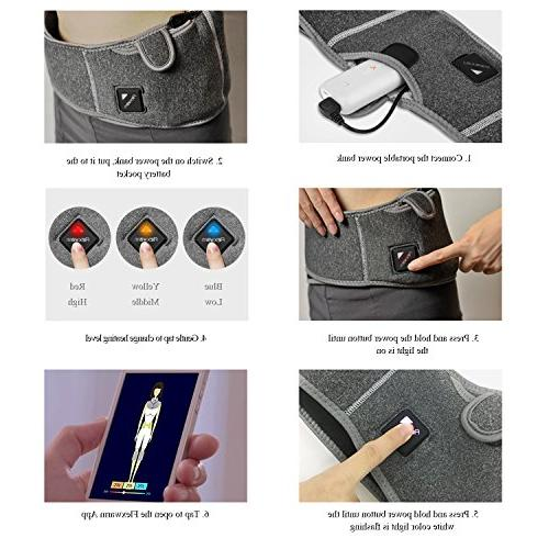 Flexwarm Infrared Heating Back Pain Electric Hot Pack Bluetooth Control, 5000mah Bank