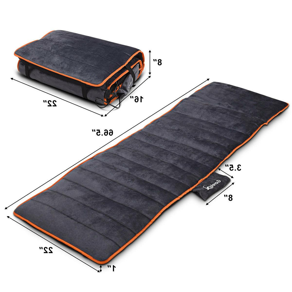 Foldable Mat 10 Vibrating Therapy Heating
