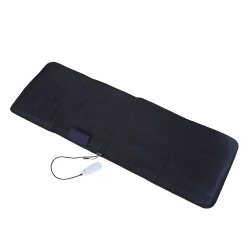 Full-Body 9-Motor Massager Mat Pad Heat Therapy Vibration