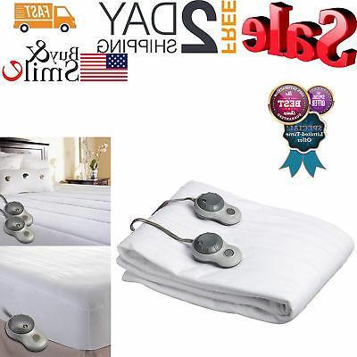 SUNBEAM HEATED ELECTRIC Premium Mattress Pad Warming Bedding
