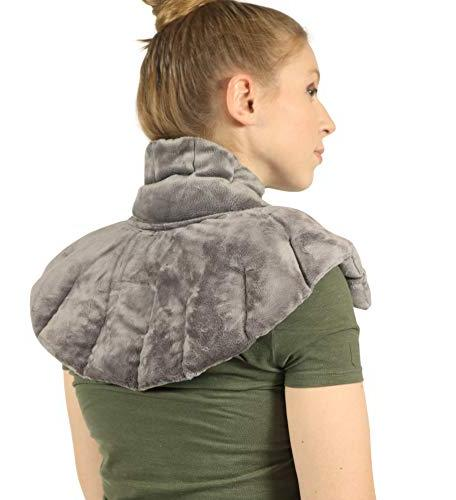 heated microwaveable neck shoulder wrap