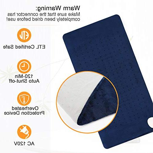 XL Electric Heat Pad Fast Neck Shoulder Back Pain Moist Therapy, 3