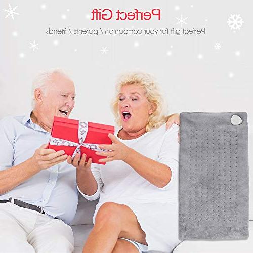 """Heating Pad,XL Shoulder Back Pads,Fast Washable Pad,Auto Off 12""""x 24"""""""