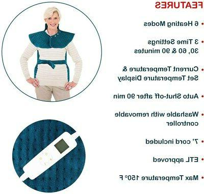 and Electric Heat Wrap Back Pain Relief
