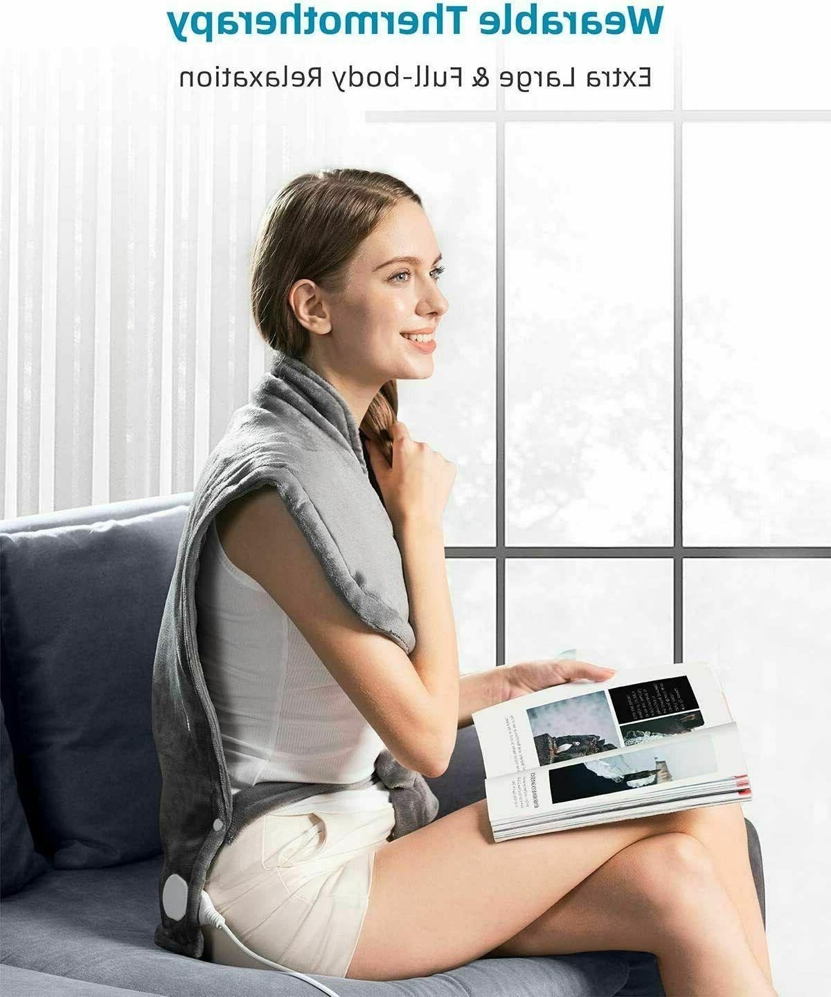 """Heating Pad for Neck and XXX-Large 35""""x27"""" Electric"""