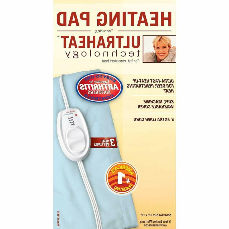 Sunbeam Pain Relief Size Settings W