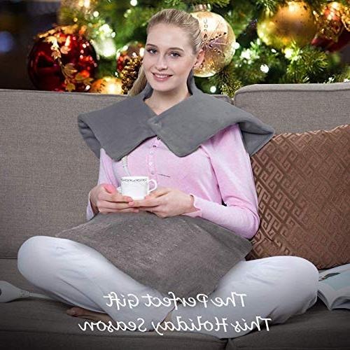 Heating Gift of 2 Shoulder & Heating and Extra-Large 24 Inch Heating Wrap for or Pain Relief – Heating Option Shut