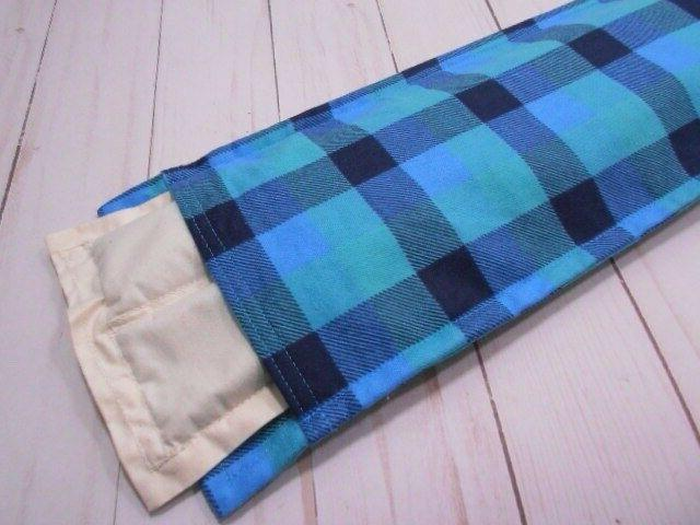 Heating Pad Microwavable Rice Flax Removable Cover Black Plaid
