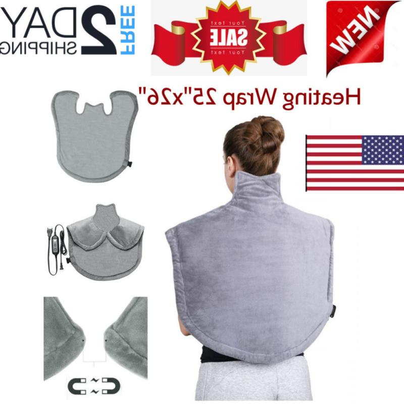 Heating Wrap For Back Neck And Shoulder Electric Soft Heat P