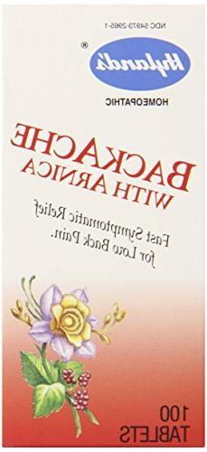 HYLANDS HOMEOPATHIC BACKACHE W/ARNICA, 100 TAB