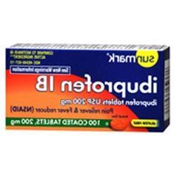 Sunmark Ibuprofen 200Mg, 200 mg, 100 tabs by Sunmark
