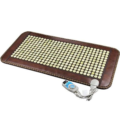 Infrared Heat Therapy Healing Natural Yellow Jade Mat / Pad