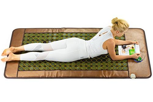 HL - Infrared Heated Mat 3 Therapy - Mattress - - Stones - Negative Ions Auto Shut Off, Settings - Manufacturer