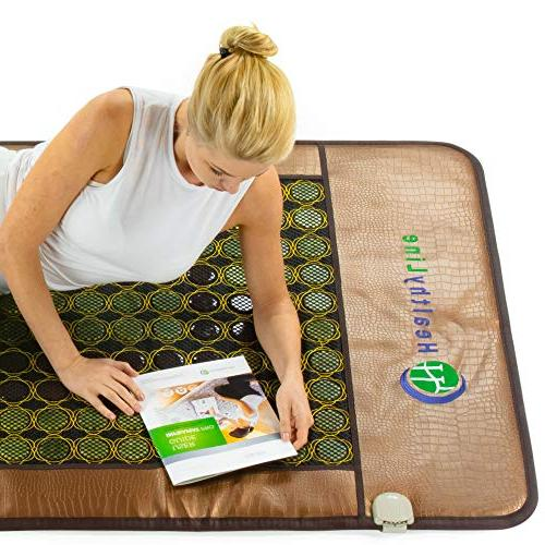 HL HEALTHYLINE - Heated Mat Therapy Mattress - 80in - Hot Negative - Shut Timing, Temperature Settings - FDA Manufacturer