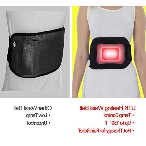 UTK Waist Belt for Back Far Heating Wrap Therapy Lumbar Stomach Auto Temp Control