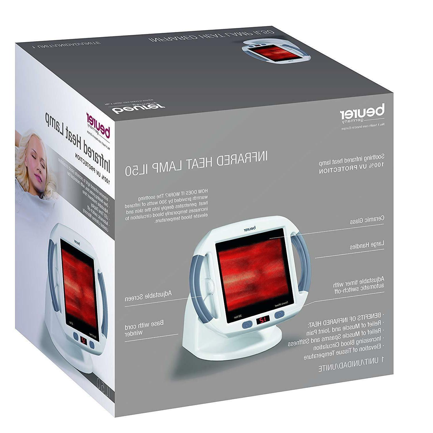 Beurer Infrared Light Lamp Red Light Therapy, Blood