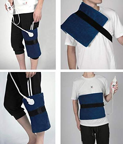 King Pad with Shut Off, Heat Settings, Pain Relief for Back, - Navy by