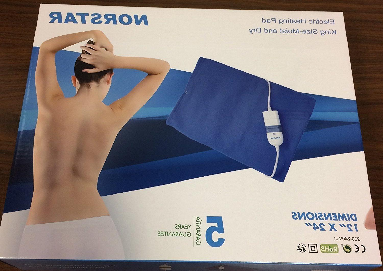 NEW 220 Volt King Size Heating Pad Moist Dry 220v European P