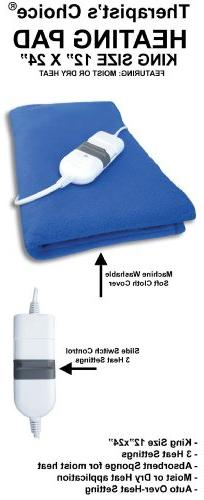 """Therapist's Choice® King Size Moist/Dry Heating Pad, 12""""x24"""