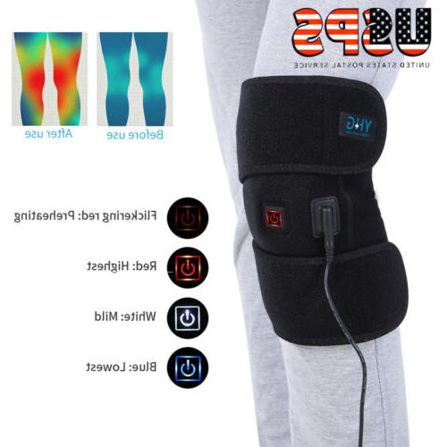 Knee Heating Pad Thermal Heated Therapy Wrap Support Brace A