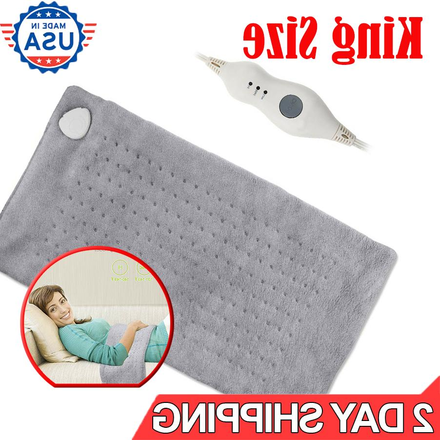 large electric heating pad king size xl