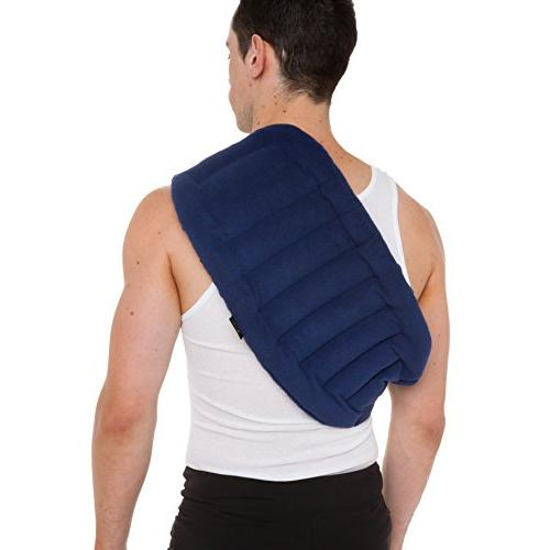 """Lower Back And Shoulder Joint Strap, 10""""x18"""" Microwave Hot/Cold Portable,"""