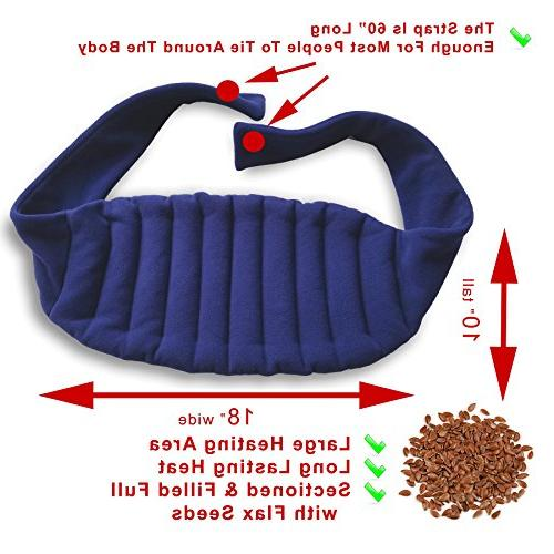 Lower Back Microwave Reusable, Portable, Navy
