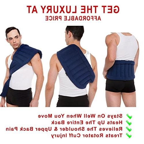 Lower Joint Heat Wrap Strap, Heating Portable, Navy Blue