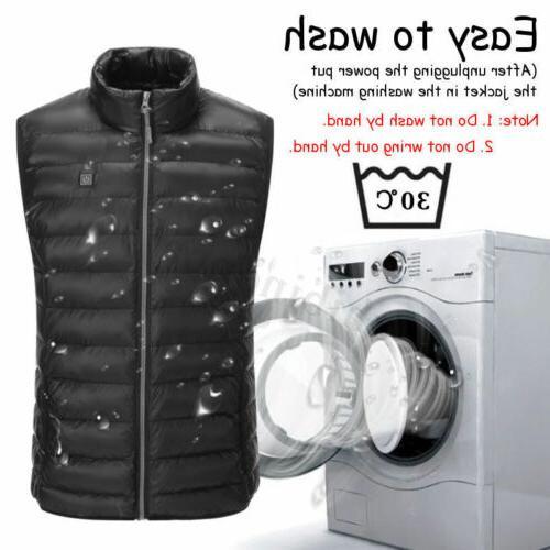 Men's Coat USB Pad Jacket Body Warm
