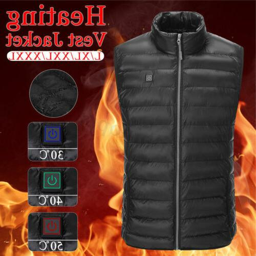 Men's Heating USB Electric Pad Jacket Warmer Warm