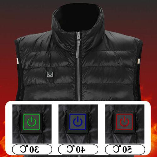 Men's USB Pad Winter Jacket Heated Body Warm