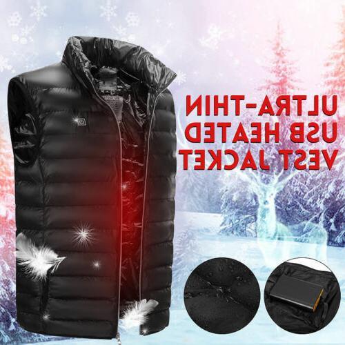 Men's Heating USB Jacket Warmer Warm