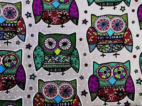 'NUGGLEBUDDY Microwavable & Pack. BESTSELLER! Owl Mandala Fabric EUCALYPTUS Aromatherapy. to Pain Relief! Heating