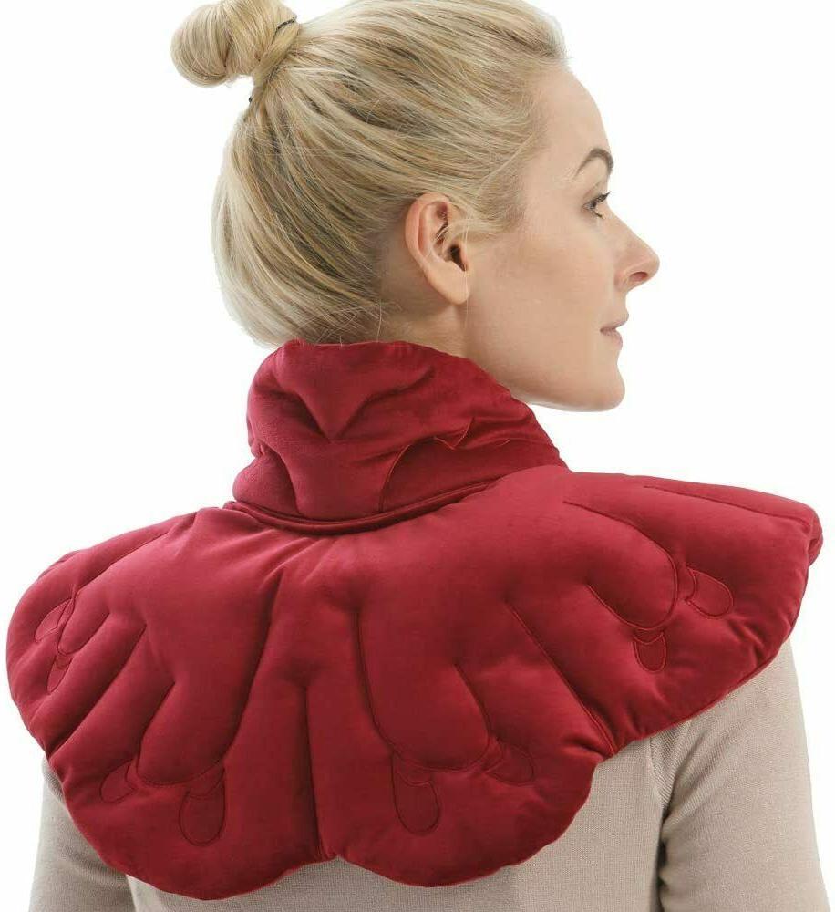 microwaveable neck and shoulder heating pad herbal